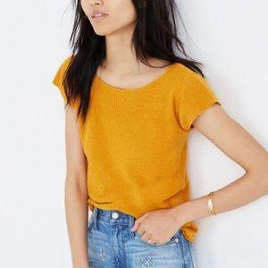 Madewell Marin Sweater Tee Gold Mustard XS T11